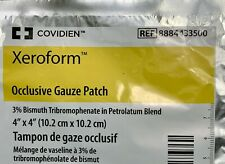 Xeroform Occlusive Gauze Patch Petrolatum, 4 X 4 Inch, 5 per Pack
