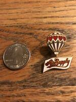 Air Supply Hot Air Balloon Pin Classic Vintage Old School New Rare