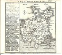 Antique map, North Wales ..