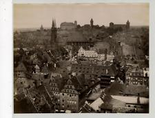 Nürnberg, Panorama von Lorenzthurn Vintage albumen print Tirage albuminé  21