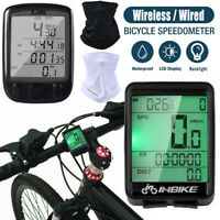 Bike Bicycle Computer Wireless/Wired Road Speedometer LCD Odometer Waterproof