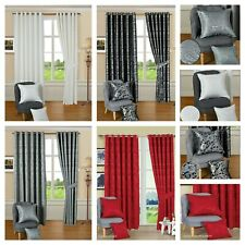 Fully Lined Best Quality Heavy Jacquard Eyelet Ready Made CLEO Curtains (Pair)