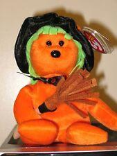 Ty Beanie Baby ~ SPELLS the Halloween Bear (Internet Exclusive) MWMT