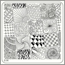 MoYou Square Stamping Art Image Plate 514 Glam Style, Full Manicure, Template