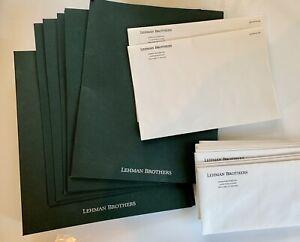 Lehman Brothers green loose leaf binder 6 folders, 18 envelopes Original vintage