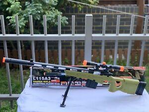 Big Size Sniper Rifle Camouflage Toy Gun Battery Operated Light Sound 99 Cm Gun