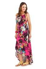 Pistachio Womens Tropical Floral Summer Maxi Ladies Evening Holiday Party Dress