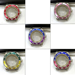 40MM 316L Mental Watch Case Set Sapphire Glass for Japanese NH35 Movement Parts