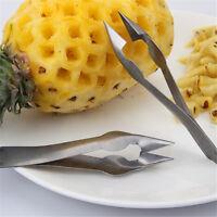 Seed Salad Fruit Clip Cutter Stainless Steel Corer Slicer Pineapple Peeler DD