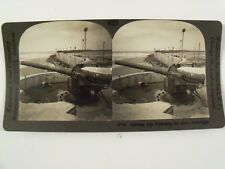"WW1 ""GERMAN GUN GUARDING THE MOLE ZEE-BRUGGEE BELGIUM"" KEYSTONE STEREOVIEW 18790"