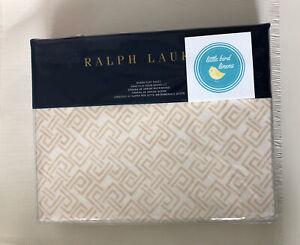 Ralph Lauren Queen Flat Sheet Weston Park Hutchings Cream New fac fold