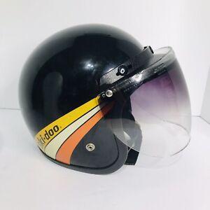 Vintage Ski Doo Snowmobile Helmet W-M100 W/ Brim Shield Size Large