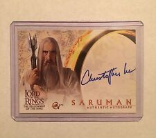 CHRISTOPHER LEE Auto - Lord of the Rings FOTR - Autograph Card - signed LOTR