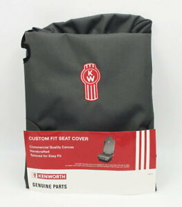 GENUINE KENWORTH Grey canvas seat cover with logo to fit ISRI 6860 drivers side.