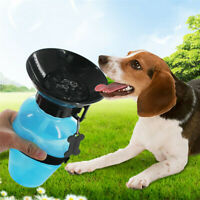 500ML Pet Dog Cat Water Drinking Bottle Cup Feeder Cup Outdoor Travel Portable