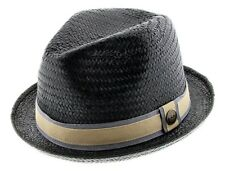 GOORIN BROTHERS Hammond Straw Trilby Fedora Hat Bros 100-0895 New