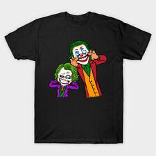 Double Joke Calvin & Hobbes Crime Joker Batman Parody Gotham Black T-Shirt S-6XL