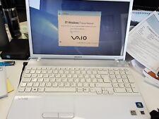 "Sony vaio laptop white 15.5"""