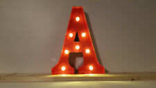 LED ALPHABET METALL BUCHSTABE - A - ROT 31x14-30x5cm=12 INCH MARQUEE LETTER