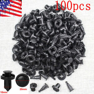 100pcs Bumper Hood Fender Splash Guard Retainer Clips Fasteners For Honda Acura