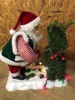VINTAGE TELCO MOTION-NETTE ANIMATED CHRISTMAS SANTA GARDENING W/ SCISSORS RARE