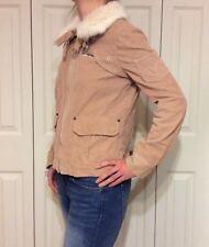 Marc By Marc Jacobs Corduroy Warm Rabbit Fur Collar Women's Coat Jacket $358