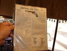 SMITHING THE COLT S A SHORT ACTION EXPLODED VIEW AND PARTS LIST 1945 Article