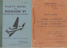 1940's HUDSON V IV VI PILOT MANUALS RARE WW2 AP RAF detailed period archive