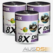 300 X Ritek DVD blank disc media - Printable DVD-R discs matt - 8X burn