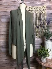 UO Out From Under Green Ribbed Long Sleeve Cardigan Sweater Size Small