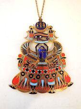 Egyptian Replica Jewelry Pendant Wedjat Scarab Cobra Tutankhamun Vintage