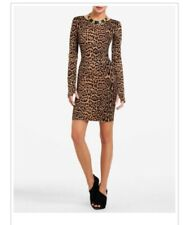 BCBG SHEENA Leopard Cocktail Dress M
