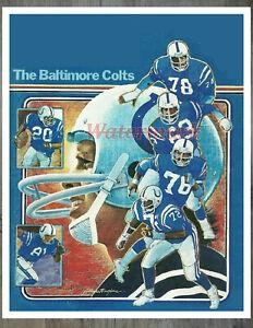 NFL Baltimore Colts Vintage Color Art Print REPRINT  8 X 10 Photo Picture