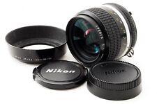 Nikon Nikkor 35mm f/2 Ai-s Ais MF Lens w/Lens Hood EXC++ Free Ship Japan #147751
