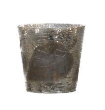 Windlicht Teelichthalter groß Glas grau beige Bauernsilber Blanc Mariclo Toskana
