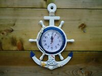 Ships Anchor Clock With Boat & Shells Wall Plaque Home Decor Ship  maritime