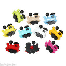 Resin Shank Scrapbooking Button Train Locomotive At Random Single Hole 50 PCs