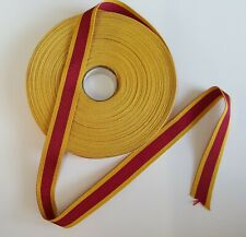 """Miniature Medal Ribbon for China War medal 1900. Sold in 6"""" Lengths"""