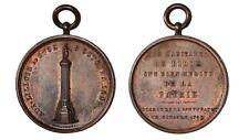 FRANCIA Louis Philippe I Médaille d'inauguration de la colonne à la déesse 1845