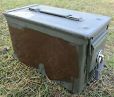 50 CAL AMMUNITION AMMO BOX CAN WITH STAINLESS STEEL LOCK LOCKING HARDWARE KIT.