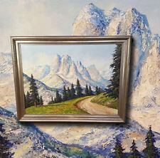 Eindrucksvolles altes Ölgemälde: Sexten Dolomiten. Landschaft Signiert W. EBERT