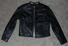 Women's Black Leather HARLEY DAVIDSON MOTORCYCLE JACKET RN103819 CA03402 Size M