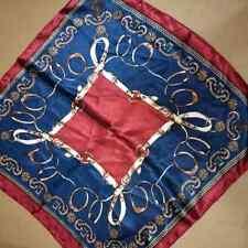 Dark blue red belt design Soft Neckerchief Shawl Head Bandanas Square Scarf Sat