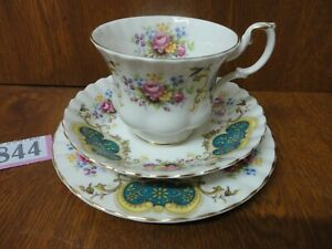 1st Quality Vintage Royal Albert BERKELEY Tea Trio - Cup & Saucer and Side Plate