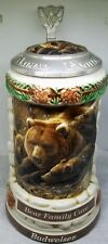 1999 Anheuser-Busch Budweiser Animal Family Bear Family Cave Stein 3Rd Series