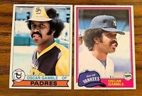 Oscar Gamble Topps 1979 #263 and 1981 #139 - Yankees/Padres
