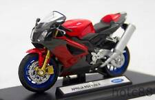 Welly 1:18 Die-cast Aprilia Rsv 1000 R Motorcycle Black Color Model Collection