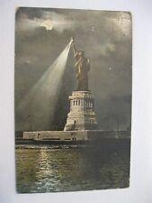 Vintage Postcard TERRIFIC 1907 Statue of Liberty MOON Night Sky New York NY 77