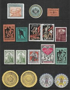 EARLY 20TH CENTURY CINDERELLA STAMPS - AUSTRIA-HUNGARY, GERMANY WORLD WAR I ETC.