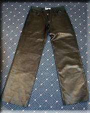 Saint Laurent Black Lambskin Leather Pants Size Medium 6 8 M